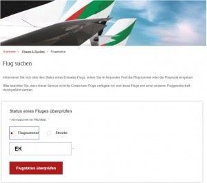 Emirates Airline Flugstatus   Ankunft   Abflug