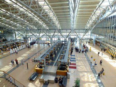 Flughafen Hamburg Ankunft