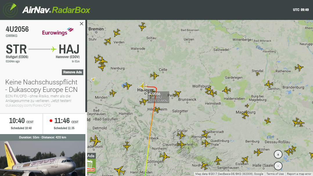 Radarbox24 - Flugradar zur Flug Verfolgung