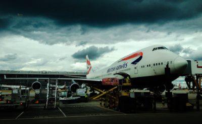 British Airways am Flughafen Abflug