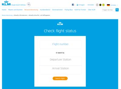 KLM Airline Flugstatus